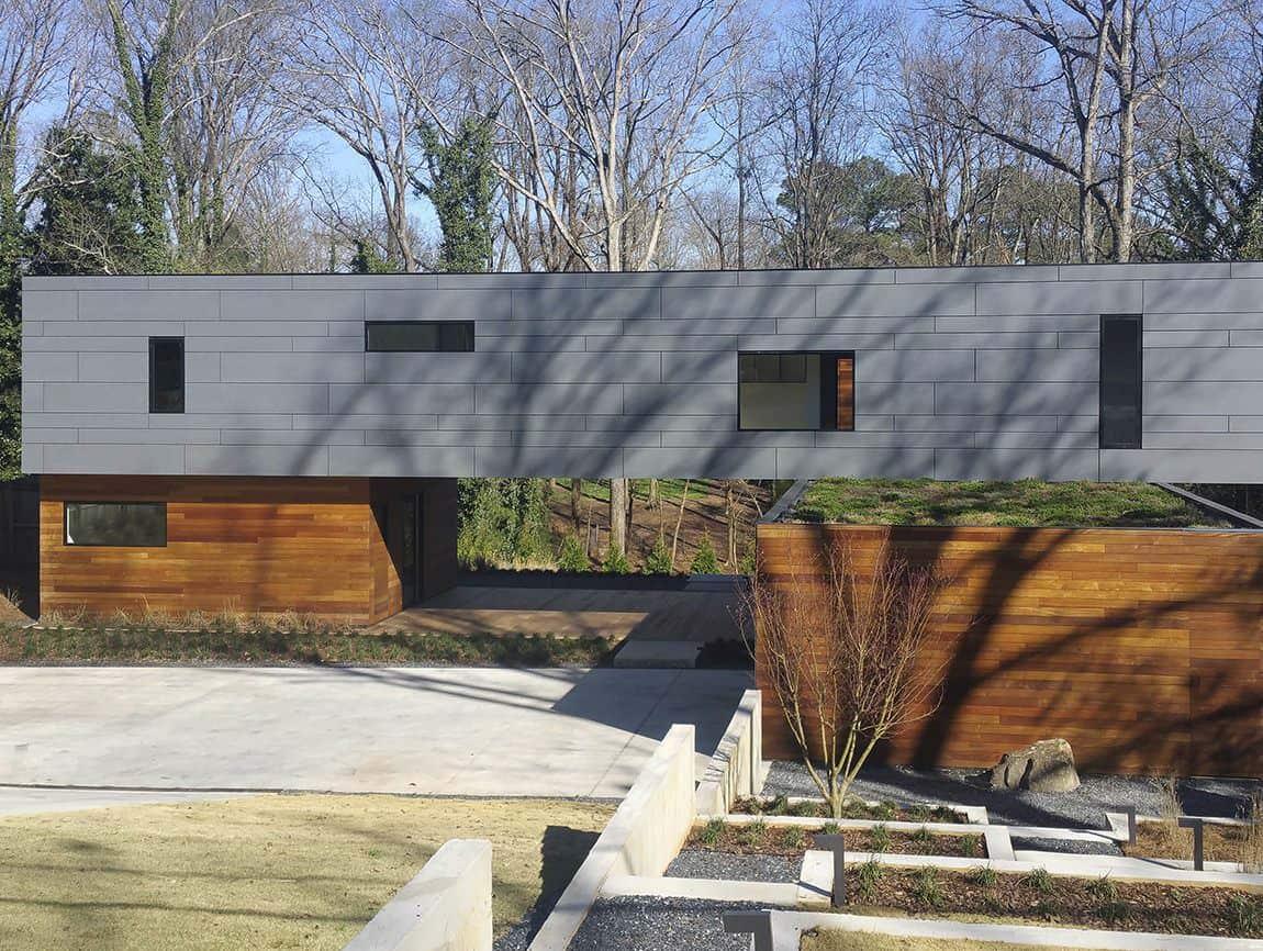 Split box house atlanta design festival design is for Residential architects atlanta ga
